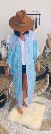 KIMONO LONG LITTLE FLOWER GYPSY