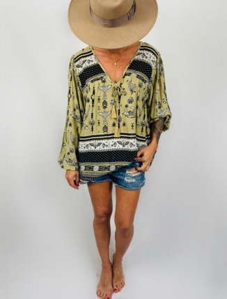 BLOUSE POMPONS MEXICANA