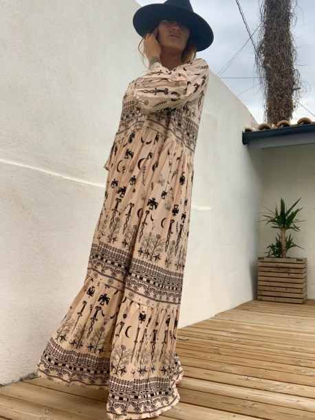 NEW LONG DRESS MEXICANA